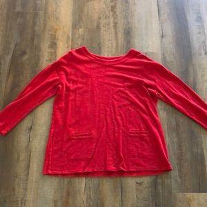 Pure Jill red sweatshirt tunic